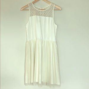 Off White Ruby and Bloom Girls Dress